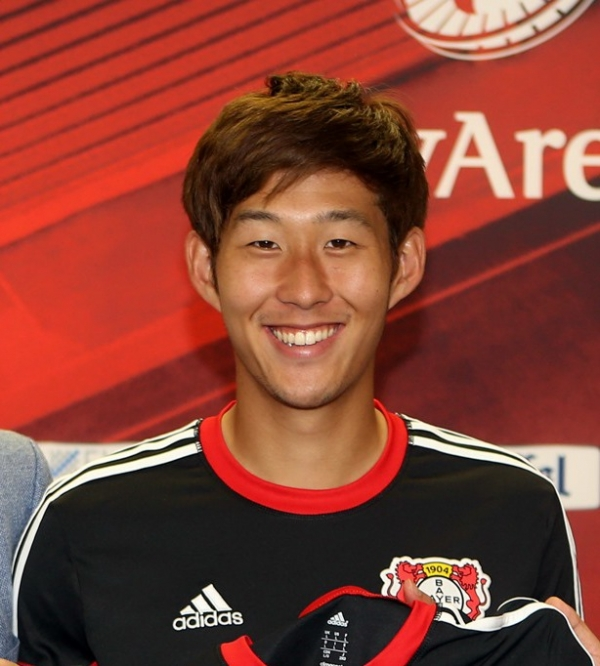 (Photo : en.wikipedia.org)Hueng Min Son, forward for Leverkusen