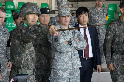 Korean Officers With Commander of USFK